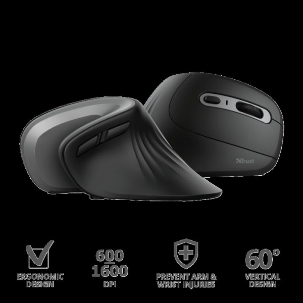 Trust Verro Ergonomic Wireless Mouse 3
