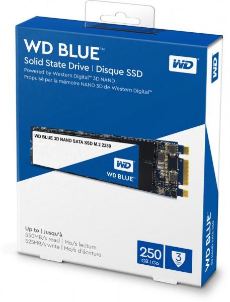 WD SSD 250GB BLUE M.2 SATA3 WDS250G2B0B 0