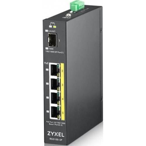 ZYXEL RGS100-5P 5PORT GBE POE SWITCH 0