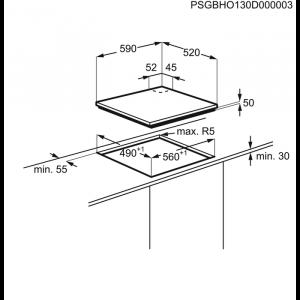 Plită mixtă inducţie/gaz 60 cm negru2