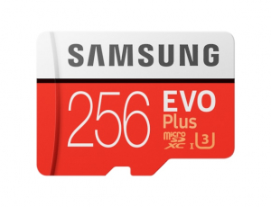 Card memorie Samsung MB-MC256HA/EU  ,  Micro-SDXC,  EVO Plus,  256GB, rata transfer r/w 100/90 MB/s, Class 10, UHS-I,  (Adaptor SD inclus)0