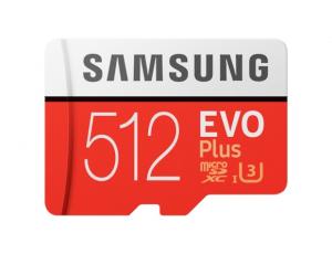 Card memorie Samsung MB-MC512HA/EU  ,  Micro-SDXC,  EVO Plus,  512GB, rata transfer r/w 100/90 MB/s, Class 10, UHS-I,  (Adaptor SD inclus)0