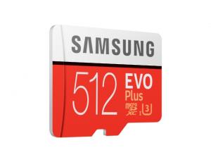 Card memorie Samsung MB-MC512HA/EU  ,  Micro-SDXC,  EVO Plus,  512GB, rata transfer r/w 100/90 MB/s, Class 10, UHS-I,  (Adaptor SD inclus)1