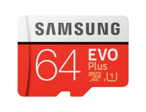 Card memorie Samsung MB-MC64HA/EU,  Micro-SDXC,  EVO Plus,  64GB, rata transfer r/w 100/20 MB/s, Class 10, UHS-I,  (Adaptor SD inclus)0