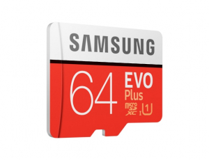 Card memorie Samsung MB-MC64HA/EU,  Micro-SDXC,  EVO Plus,  64GB, rata transfer r/w 100/20 MB/s, Class 10, UHS-I,  (Adaptor SD inclus)1