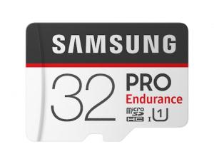 Card memorie Samsung MB-MJ32GA/EU  ,  Micro-SDXC,  PRO Endurance,  32GB, rata transfer r/w 100/30 MB/s, Class 10, UHS-I,  (Adaptor SD inclus), Proiectat pentru camere de supraveghere/securitate (dash 0