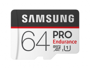 Card memorie Samsung MB-MJ64GA/EU  ,  Micro-SDXC,  PRO Endurance,  64GB, rata transfer r/w 100/30 MB/s, Class 10, UHS-I,  (Adaptor SD inclus), Proiectat pentru camere de supraveghere/securitate (dash 0