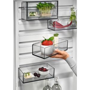 Combina frigorifica 360 litri A++ Frost free H 201 cm inox negru1