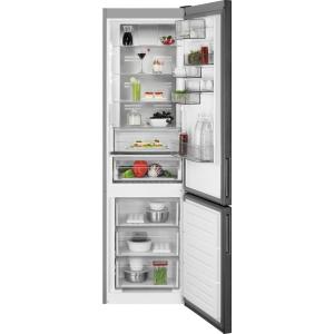 Combina frigorifica 360 litri A++ Frost free H 201 cm inox negru0