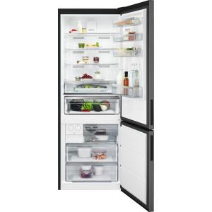 Combina frigorifica 461 litri A++ Frost free H 192 cm inox negru0