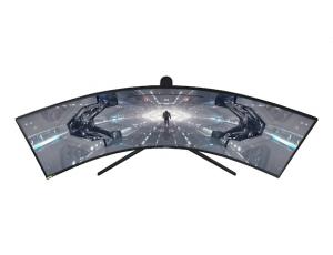 Monitor Samsung LC49G95TSSUXEN, 49 inch, Odyssey G9 QLED  Dual-QHD, Curbat, VA, 5120 x 1440, 32:9, 1 (GTG) ms, 1000 cd/m2, 2500:1, 1000R,  Black Equalizer, sRGB 125%,  178°(H)/178°(V),  240Hz,  2*Disp2