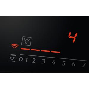 Plită inducţie cu hotă integrată ComboHob 630 mc/h 83 cm negru1