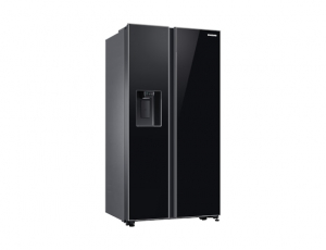 Side by Side Samsung RS65R54112C, Capacitate bruta totala 660L, Capacitate neta congelator: 202l, Capacitate neta frigider: 415l, Inaltime 1780mm, Latime: 912mm, Adancime 716mm, Functii racire: All Ar1