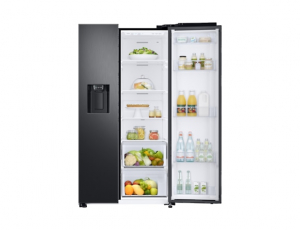 Side by Side Samsung RS68N8650SL, Capacitate 617L, Capacitate neta congelator: 210l, Capacitate neta frigider: 407l, Inaltime 1747mm, Latime: 960mm, Adancime 716mm, Functii racire: Twin Cooling Plus/N5