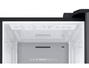 Side by Side Samsung RS68N8671B1, Capacitate 604L, Capacitate neta congelator: 210l, Capacitate neta frigider: 394l, Inaltime 1747mm, Latime: 960mm, Adancime 716mm, Functii racire: Twin Cooling Plus/N8
