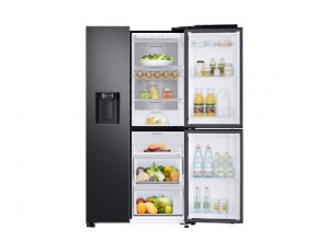 Side by Side Samsung RS68N8671B1, Capacitate 604L, Capacitate neta congelator: 210l, Capacitate neta frigider: 394l, Inaltime 1747mm, Latime: 960mm, Adancime 716mm, Functii racire: Twin Cooling Plus/N5