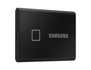 SSD Samsung MU-PC2T0K/WW, Portabil T7 Touch, 2Tb, USB 3.2, 1050Mb/s, protectie cu amprenta1