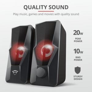 Trust GXT 610 Argus Red LED 2.0 Speaker3
