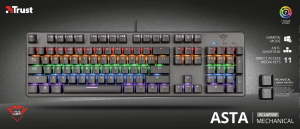 Trust GXT 865 Asta Mechanical Keyboard6