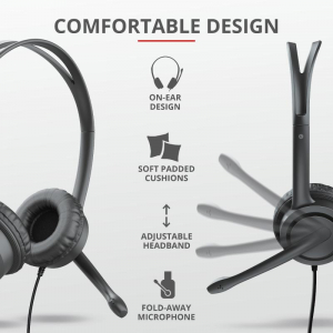 Trust Mauro USB Headset for PC/laptop [3]