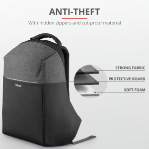 "Trust Nox Anti-theft Backpack 16"" Black3"