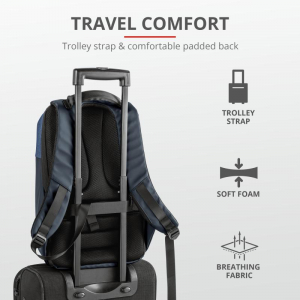 "Trust Nox Anti-theft Backpack 16"" Blue [8]"