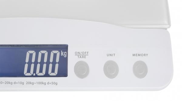 Cantar pentru bebelusi 0-20 kg, copii si adulti de pana la 100 kg, afisaj LCD, sticla securizata, precizie 1g 2