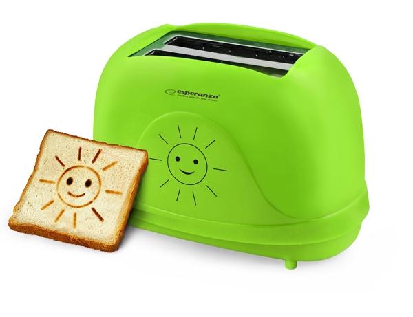 Prajitor de paine toaster cu modele Smiley cu 3 functii de la 1 pana la 7 grade diferite de prajire de la moale pana la crocant oprire automata 3