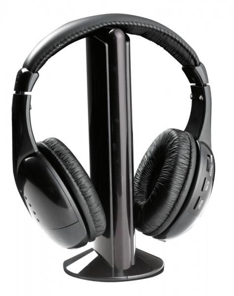 Casti wireless stereo, cu receptor radio incorporat FM, microfon incorporat, functie de monitorizare si control al volumului 0