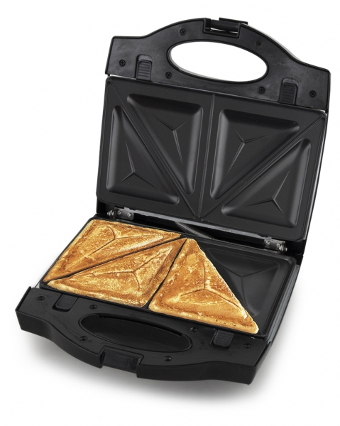 Aparat de sandwich Portadellaa 3in1 cu placi interschimbabile pentru  waffe, grill sau sandwich culoare alba 3