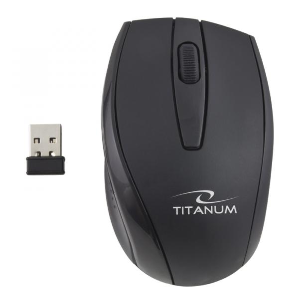 Tastatura si Mouse set 3D wireless 2.4GHz, Titanum Orlando, negru, nano receiver, consum redus de energie, taste rezistente imprimare in material [1]
