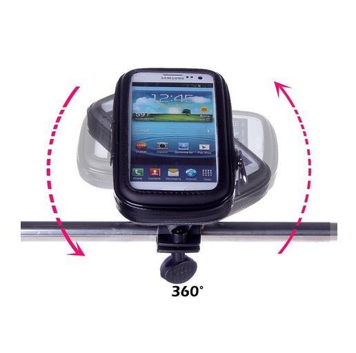 """Suport Telefon pentru bicicleta si motocicleta, rezistent la umezeala, marimea L ecran pana la 5.5"""", rotatie in jurul axei 360 ° [1]"""