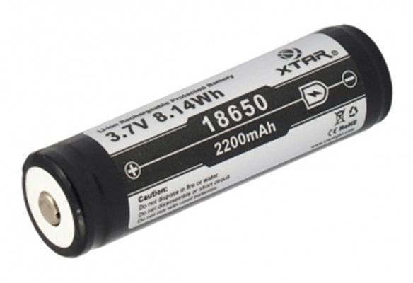 Acumulator 3.7 V 18650 Litiu-ion Xtar 2200mAh pentru tigari electronice, boxe bluetooth, alte dispozitive 1