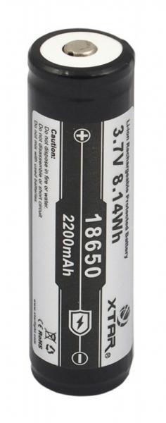 Acumulator 3.7 V 18650 Litiu-ion Xtar 2200mAh pentru tigari electronice, boxe bluetooth, alte dispozitive 0