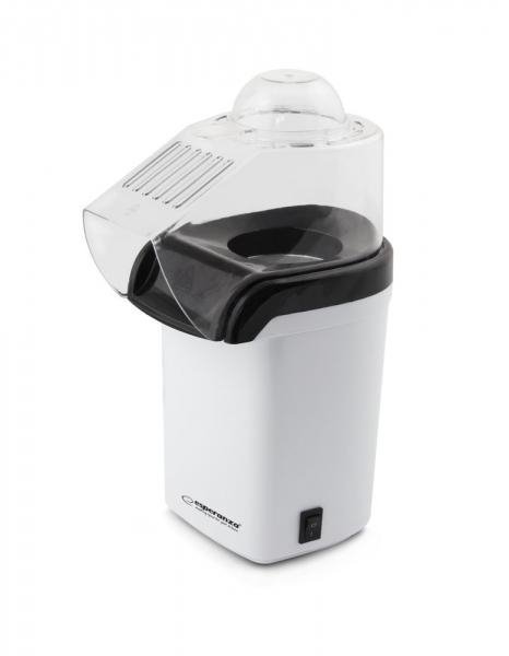 Aparat pentru preparare popcorn , floricele de porumb, cu aer cald, fara ulei sau grasimi, in conditii ECO usor de utilizat putere 1200W capacitate 0,27 litri design ergonomic 1