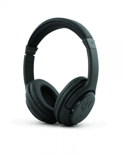 Casti Bluetooth stereo de inalta calitate, cu raza pana la 10 metri, microfon incorporat, ajustabile, comenzi control pe casca, Libero negru CE 0