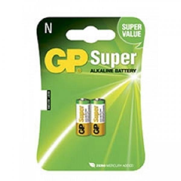 Baterii GP  LR01 1,5v, blister de 2 buc, Super Alkaline fabricatie tehnologie noua fara mecur , pentru senzori de pescuit, alarme, dispozitive medicale 0