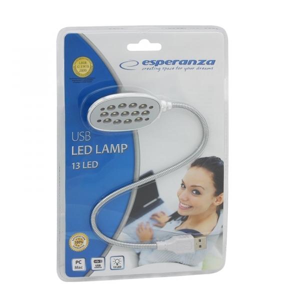 Lampa USB cu 13 LED-uri pentru notebook, laptop sau computere, lumineaza uniform tastatura, 35 cm lungime [1]