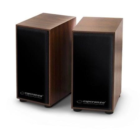 Boxe stereo conectare USB pentru laptopuri notebook-uri, desktop-uri sau alte dispozitive, fabricatie din lemn design clasic culoare cires 0