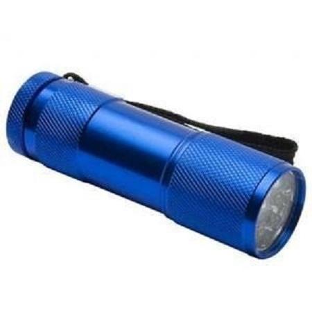 Lanterna  din aluminiu cu 9 LED-uri superluminoase  rezistenta la socuri si umezeala culoare albastra 0
