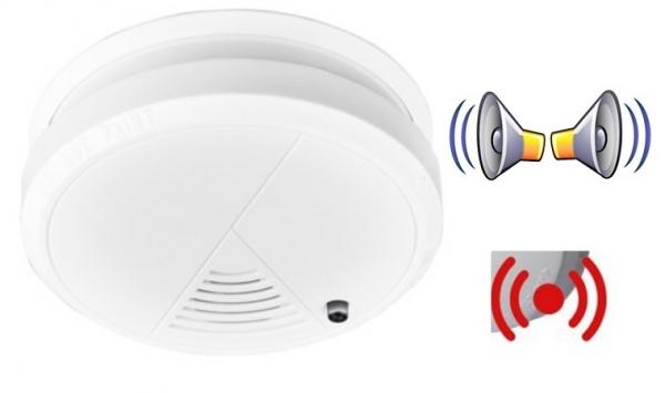 Alarma detector  pentru fum cu senzor optic pentru protectie si prevenire incendii baterie 9v inclusa 0