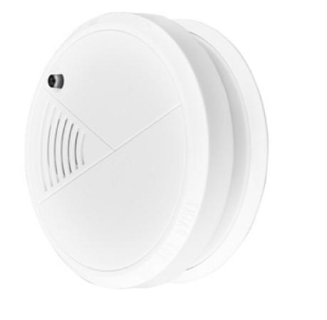 Alarma detector  pentru fum cu senzor optic pentru protectie si prevenire incendii baterie 9v inclusa 1