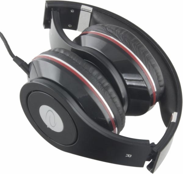 Casti Stereo  Over-Ear cu fir lung de 5m, perne moi cu izolatie fonica perfecta, control volum pe fir, reglaj usor pe dimensiunea capului si pliabile, adaptor mufa jack 3.5 inclus culoare negru cu ros 1