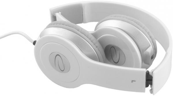 Casti stereo albe EH145 de inalta calitate, control al volumului pe fir, reglabile si rezistente, conectare fara interferente prin jack 3.5mm 1
