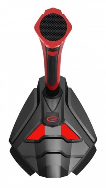 Microfon pentru gaming design futurist port jack 3.5 mm material prietenos rosu cu negru, cu fir 0