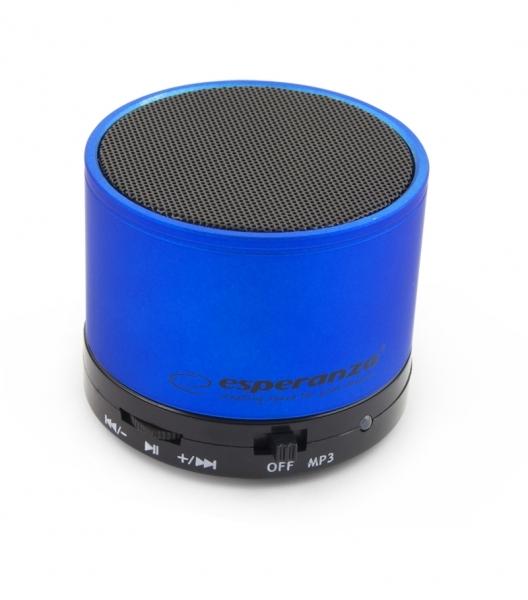 Boxa portabila cu Bluetooth si Radio FM, USB si microSD, Ritmo Albastru azur 0