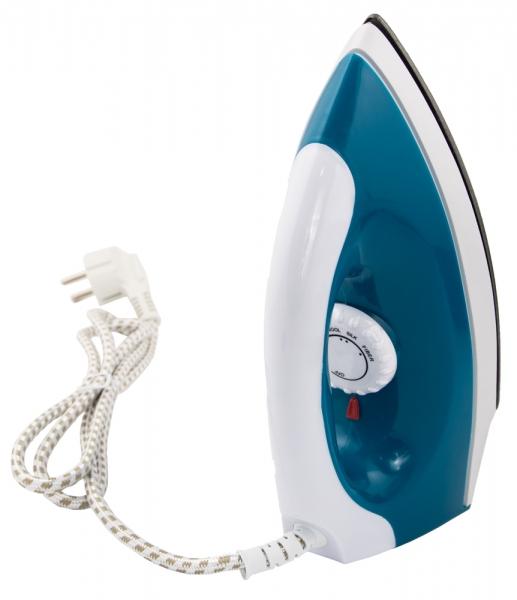 Fier de calcat de voiaj, alb/albastru, putere 1200w, indicator LED, control temperatura, dimensiuni reduse, cablu 1.4 m ideal calatorii [3]