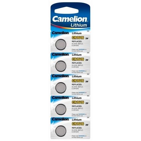 Baterii Camelion  CR1616 fabricatie Lithium  blister de 5 bucati pentru alarme si alte dispozitive 0