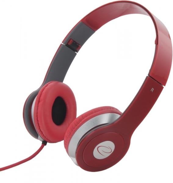 Casti stereo TECHNO RED de inalta calitate, PLIABILE, reglabile, cu control al volumului pe fir, perne moi de inalta calitate rezistenta indelungata impact si frecare 0