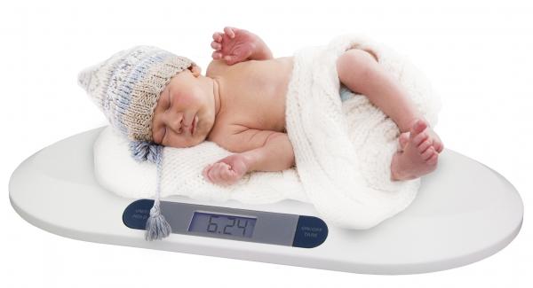 Cantar electronic pentru bebelusi cu ecran LCD si  precizie la nivel de grame 1